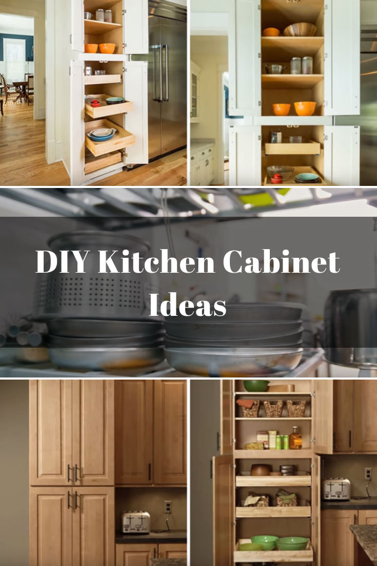 Pull-Out Shelves inside The Cabinet