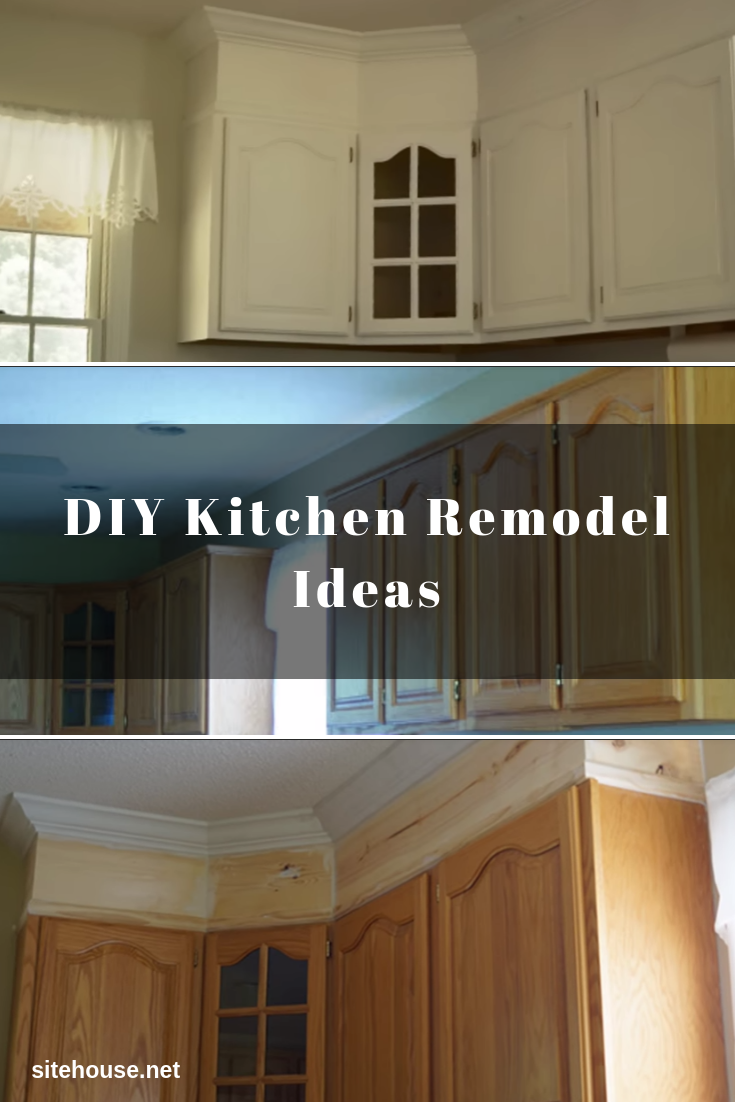 Kitchen Cabinet Remodel with Paint and Crown Molding