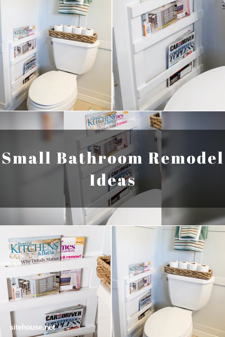 Magazine Rack Storage Idea for Small Bathroom Remodel