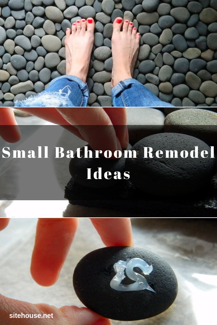 Ocean Stone Mat for Small Bathroom Remodel
