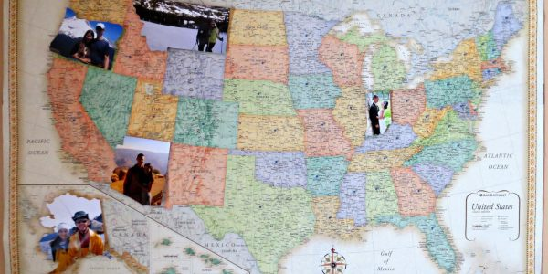 Personalized Photo Map Wall Board for Vintage Decor Ideas