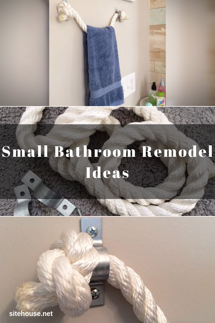 Rope Towel Holder for Small Bathroom Remodel