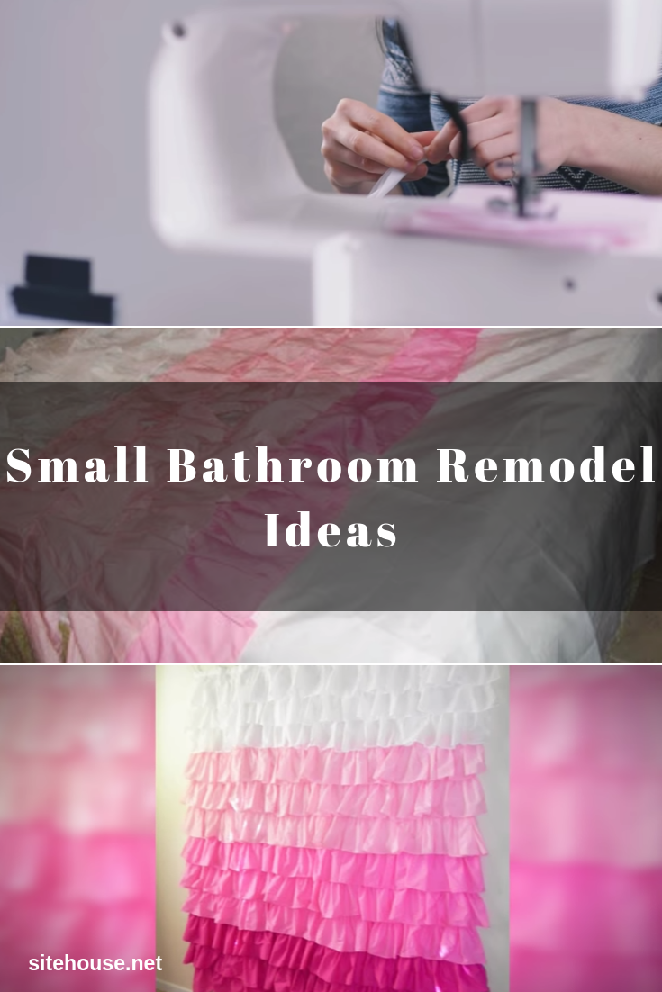 Ruffles Shower Curtain for Small Bathroom Remodel