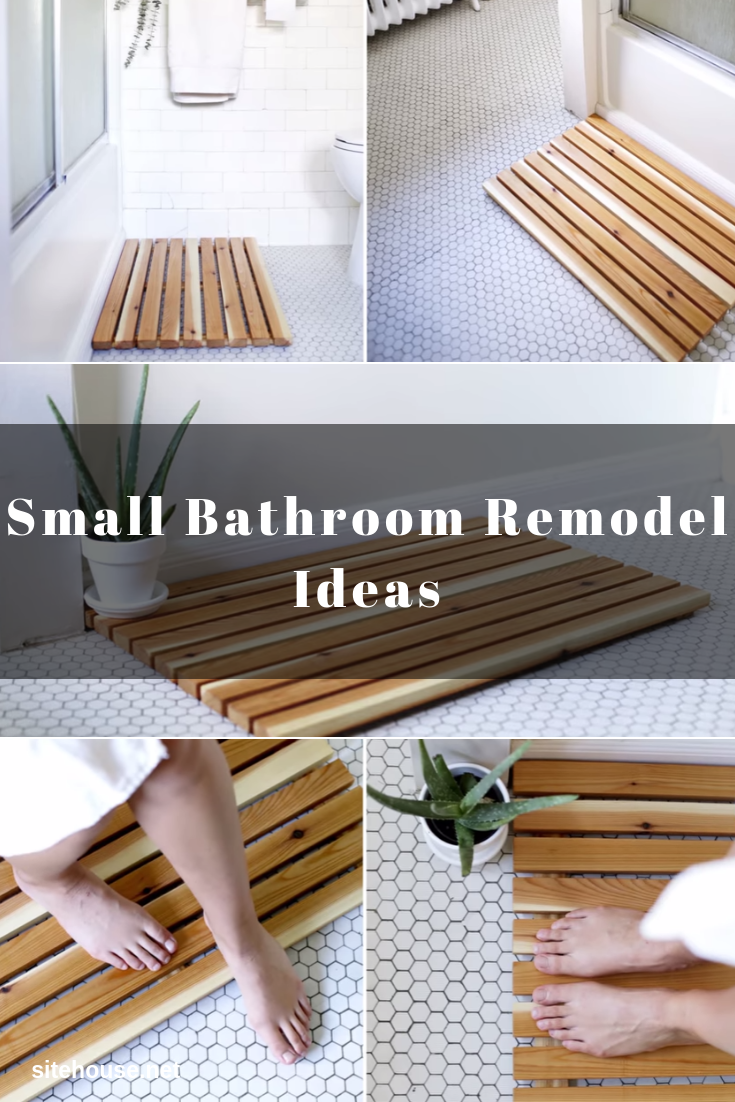 Wooden Cedar Bath Mat for Small Bathroom Remodel