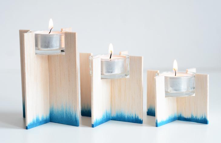 DIY Dip Dye Candle Holder