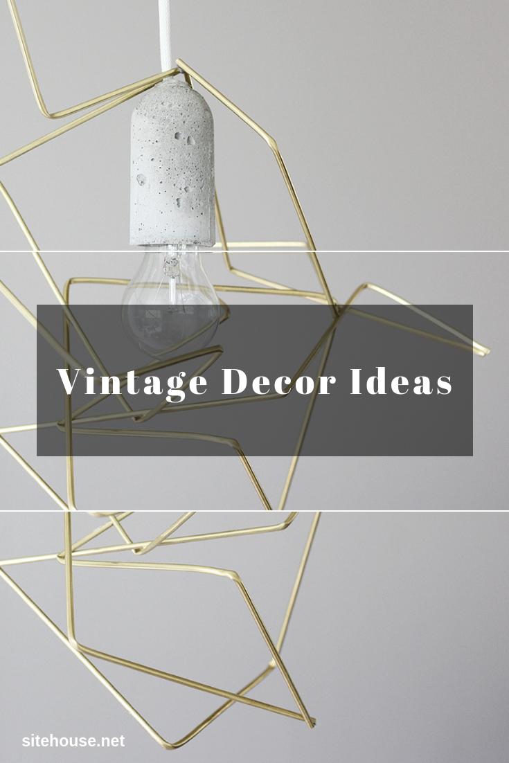 DIY Geometric Lamp Decor for Vintage Decor Ideas