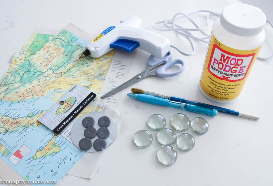 Personalized DIY Map Magnets