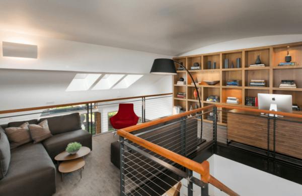 A bonus room doubles as an office.